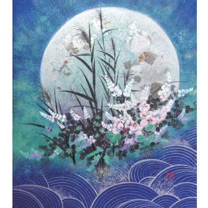 岸野フサヨ日本画展 華麗なる四季の花々