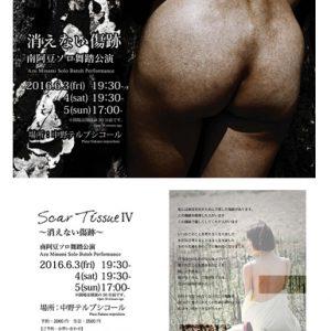 Scar Tissue Ⅳ~消えない傷跡~ 南阿豆ソロ舞踏公演